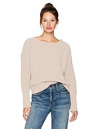 Moon River Womens Chunky Drop Sleeve Sweater, Ivory, X-Small