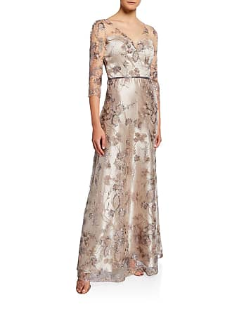 LM Collection Sequin Floral Embroidered Ball Gown