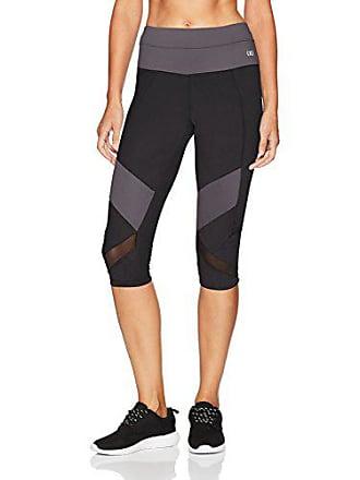 2(x)ist Womens Performance Capri Legging Pants, Black with Grey, M