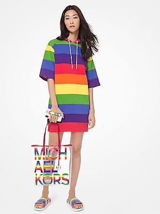 Michael Kors Rainbow Cotton-Terry Hoodie Dress