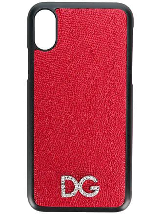 Dolce & Gabbana Capa para iPhone X com logo - Vermelho