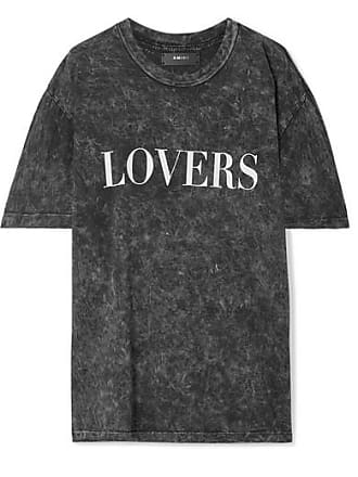 Amiri Lovers Oversized Printed Acid-wash Cotton-jersey T-shirt - Black
