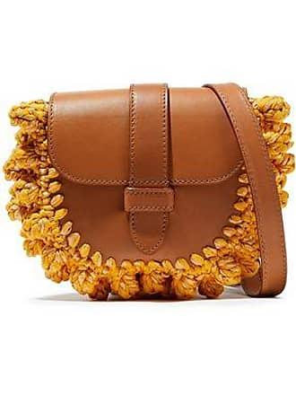 c09da1964f5c6 M Missoni M Missoni Woman Knotted Crochet-paneled Leather Shoulder Bag  Saffron Size