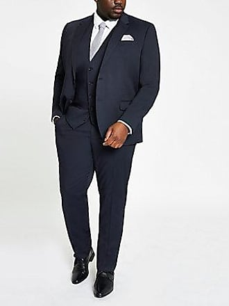 River Island Mens Big and Tall navy suit pants