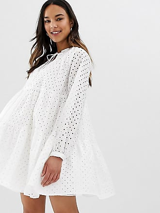 8bbdf267ce659 Asos Maternity ASOS DESIGN Maternity tiered trapeze mini dress in broderie