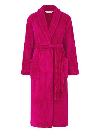 e52ee064af6b9 Slenderella Womens Soft Fleece Wrap Dressing Gown Shawl Collar Bathrobe  Small (Raspberry)