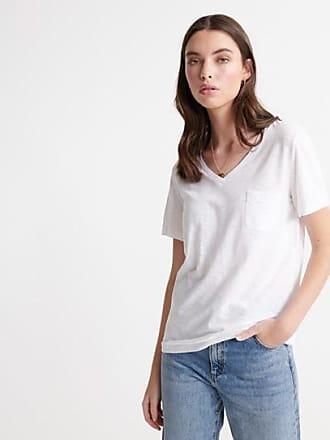 Superdry T-shirt à col en V Essential en coton biologique