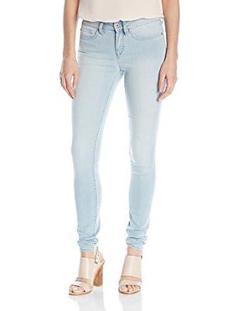 Yummie Tummie Modern Mid Rise Slimming Super Skinny Denim Jeans, Baby Blue, 31