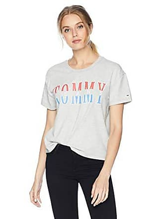 5eee61fa Tommy Hilfiger Tommy Jeans Womens T Shirt Short Sleeve Graphic Logo Tee  Relaxed Fit, Light