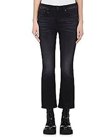 R13 Womens Kick Fit Crop Jeans - Black Size 27