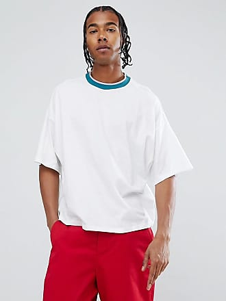 Asos oversized t-shirt with contrast tipping - Multi
