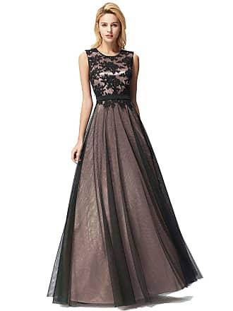 4bda68add761 Ever Pretty Womens Elegant A Line Sleeveless O-Neck Long Tulle Special Occasion  Dresses Black