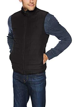 Chaps Mens Classic Fit Quilted Packable Vest, Black, S