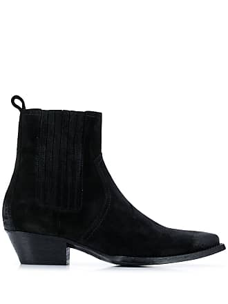 Saint Laurent Bota slip on cowboy - Preto