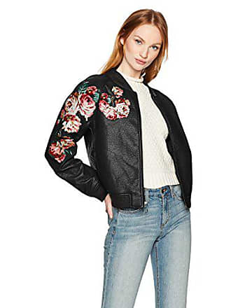 Joe's Womens Pu Bomber Jacket, Black cat, S