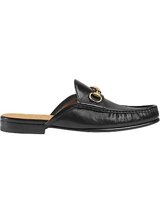 22d9c6242d Gucci Slipper Horsebit de couro - Preto