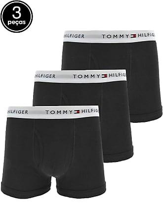 c1f43a0b4 Tommy Hilfiger Kit 3pçs Cueca Tommy Hilfiger Boxer Logo Preto