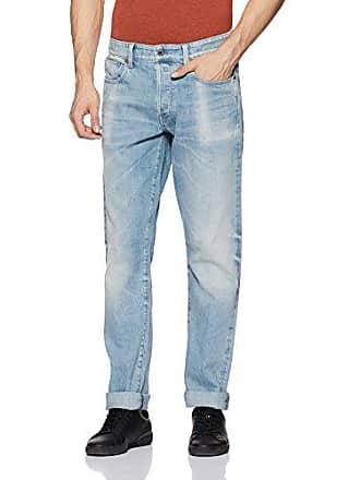 9d9f158788c G-Star Mens 3301 Tapered Fit Jean in Nippon Stretch Denim, Light Aged,