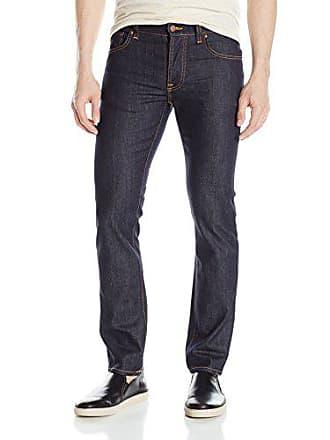 Nudie Jeans Mens Grim Tim, Dry Open Navy, 38x34