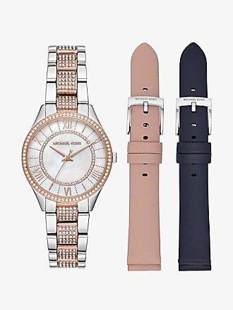 Michael Kors Mini Lauryn Pave Two-Tone Watch Set