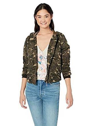 Urban Republic Womens Juniors Cotton Twill Jacket, Hibiscus camo, L