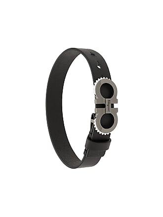 7f864976105df Salvatore Ferragamo Bracelete Double Gancini de couro - Preto