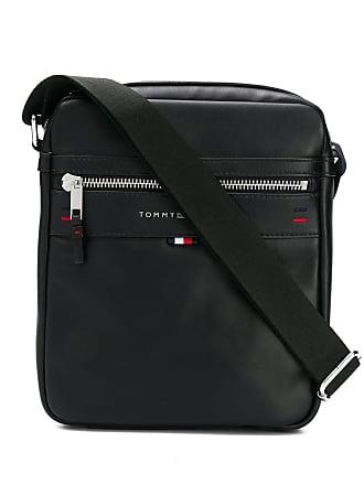fa9e3e6e94d0 Tommy Hilfiger logo plaque messenger bag - Black