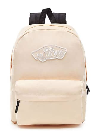 bdf383cad4 Vans Unisex Realm Polyester Backpack Bleached Apricot Checkerboard-Apricot-O  S
