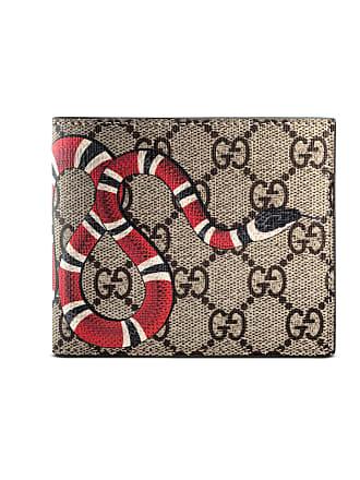 c07529b05a9ba Gucci Brieftasche aus GG Supreme mit Königsnatterprint