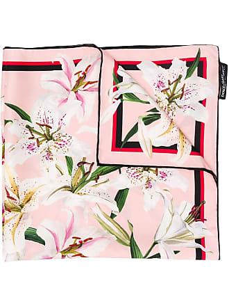 Dolce & Gabbana floral print scarf - Rosa