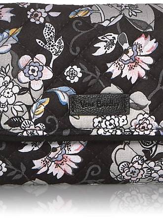 Vera Bradley Womens Iconic RFID Riley Compact Wallet, Signature Cotton, Holland Garden, One size