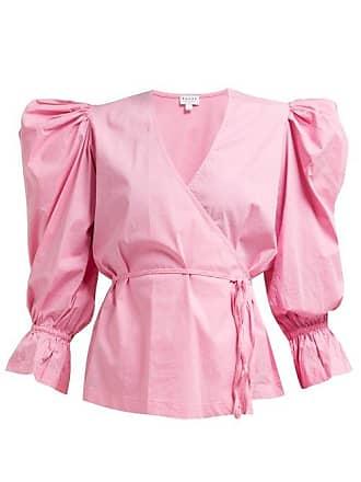 Rhode Resort Rhode - Valentina Cotton Blend Wrap Top - Womens - Pink