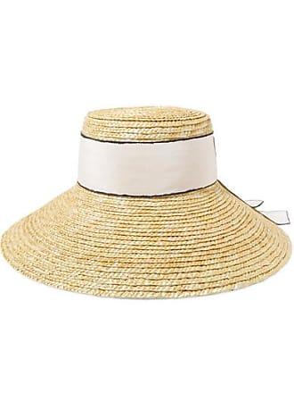 Eugenia Kim Annabelle Grosgrain-trimmed Straw Hat - Beige be74215d75ea