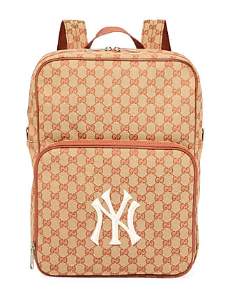 abf9201e2 Gucci Mens GG Supreme Backpack with NY Yankees MLB Applique