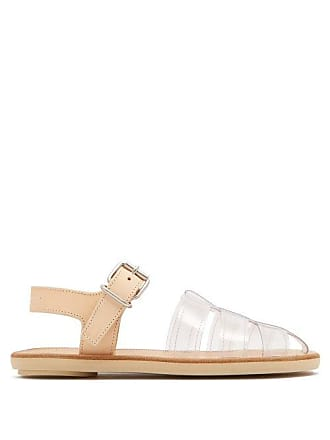 Maison Margiela Mm6 Maison Margiela - Perspex And Leather Cage Sandals - Womens - Tan