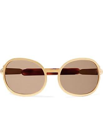 3dcc92e3de3a Chloé Oversized Oval-frame Gold-tone And Acetate Sunglasses - one size