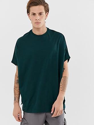 adbea4b43cbb Asos T-shirt super oversize verde in cotone biologico - Verde