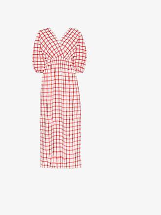 Mara Hoffman nami checked-cotton maxi dress