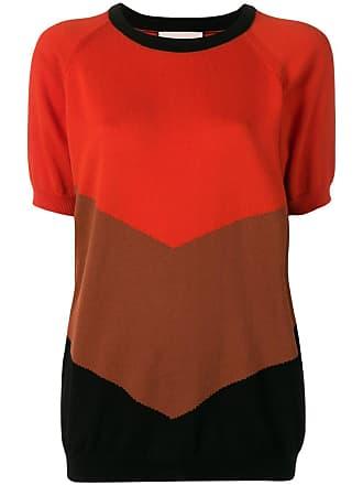 Plan C Blusa de tricô color block - Vermelho