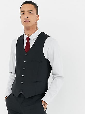 Heart & Dagger skinny suit vest - Black