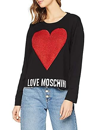 Love Moschino Damen Pullover Heart and Logo Knitted Long Sleeve Jumper dbf2c7bd52