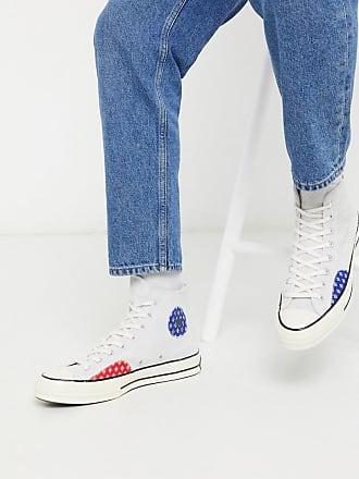 Converse Chuck 70 - Patchwork-Sneaker mit geknotetem Design in gebrochenem Weiß