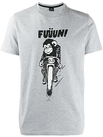 Paul Smith Camiseta Monkey Fun - Cinza