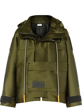 Palm Angels Hooded Canvas Parka - Army green