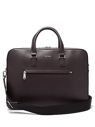 Paul Smith Textured Leather Briefcase - Mens - Burgundy