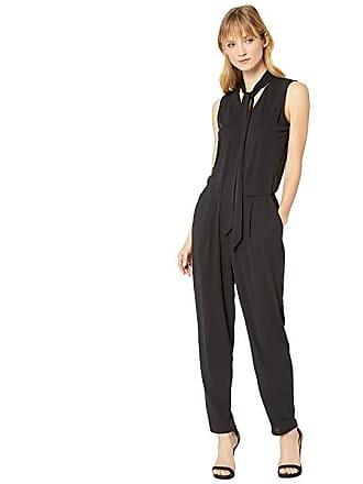 199319e645a5 Ralph Lauren Tie Neck Jersey Jumpsuit (Polo Black) Womens Jumpsuit    Rompers One Piece