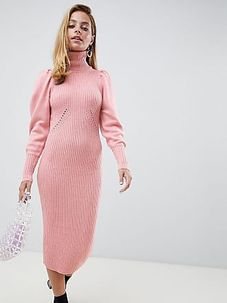 2f7f0e29afd Lost Ink Petite midi jumper dress in ribbed knit