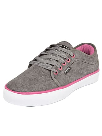 Ride Skateboard Tênis Ride Skateboard Curb W. Cinza/Rosa