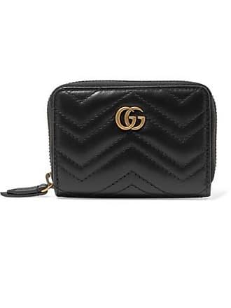477daab3936 Gucci Portefeuille En Cuir Matelassé Gg Marmont - Noir
