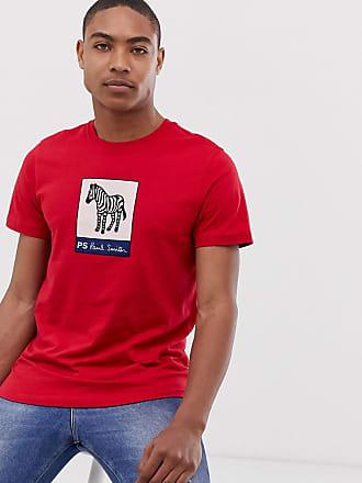 7a775ba8183885 Paul Smith Rotes T-Shirt mit auffälligen Zebrastreifen in schlanker  Passform - Rot